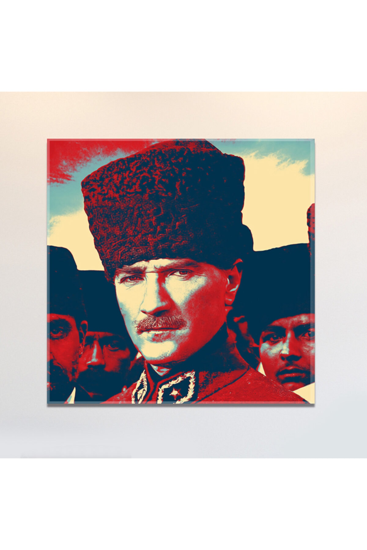 PabloFi Gazi Mustafa Kemal Atatürk Kalpaklı Efektli Kanvas Tablo 1