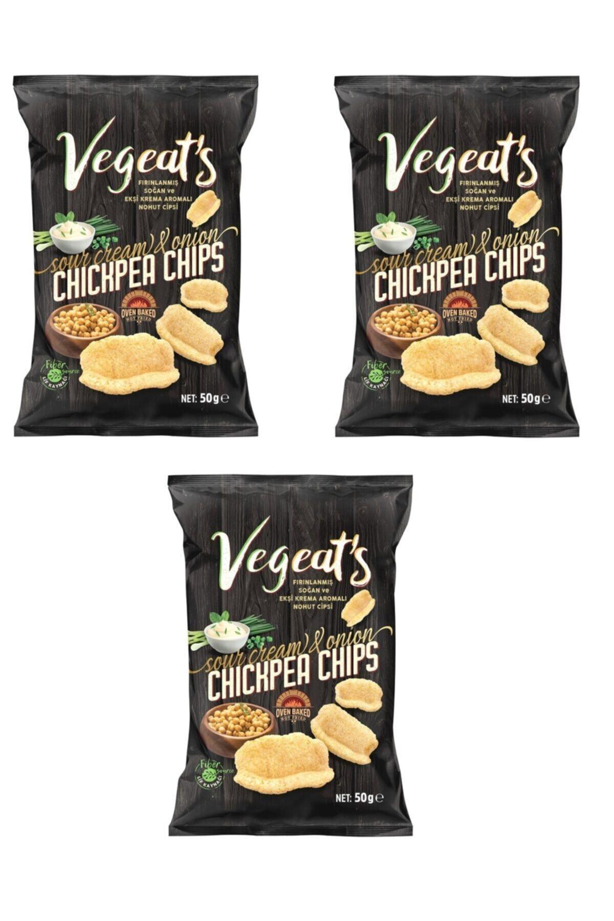 Vegeats Vegeat's Fırınlanmış Ekşi Krema & Soğanlı Nohut Cipsi 3 Adet 1
