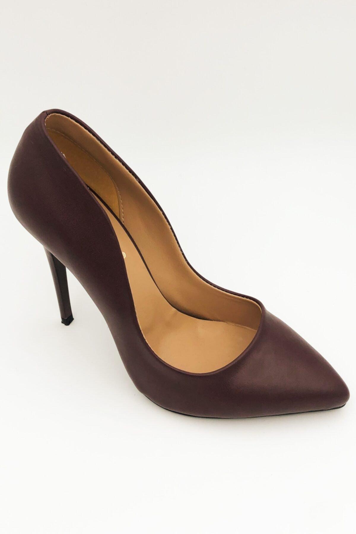 beyzasaylık Kadın Bordo Stiletto  Ayakkabı 2