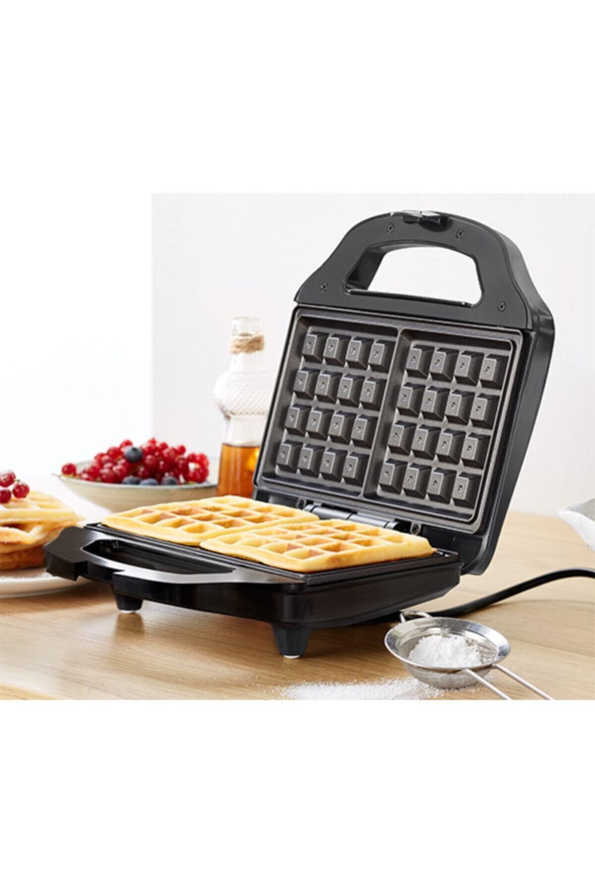 KORKMAZ Vertex Siyah Waffle Makinesi 1