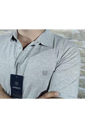 simenteks Erkek Gri Polo Yaka T-Shirt