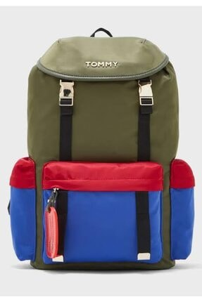 Tommy Hilfiger Unisex Yeşil Th On The Move Backpack