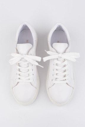 Marjin Kadın Beyaz Sneaker Ayakkabı Balen