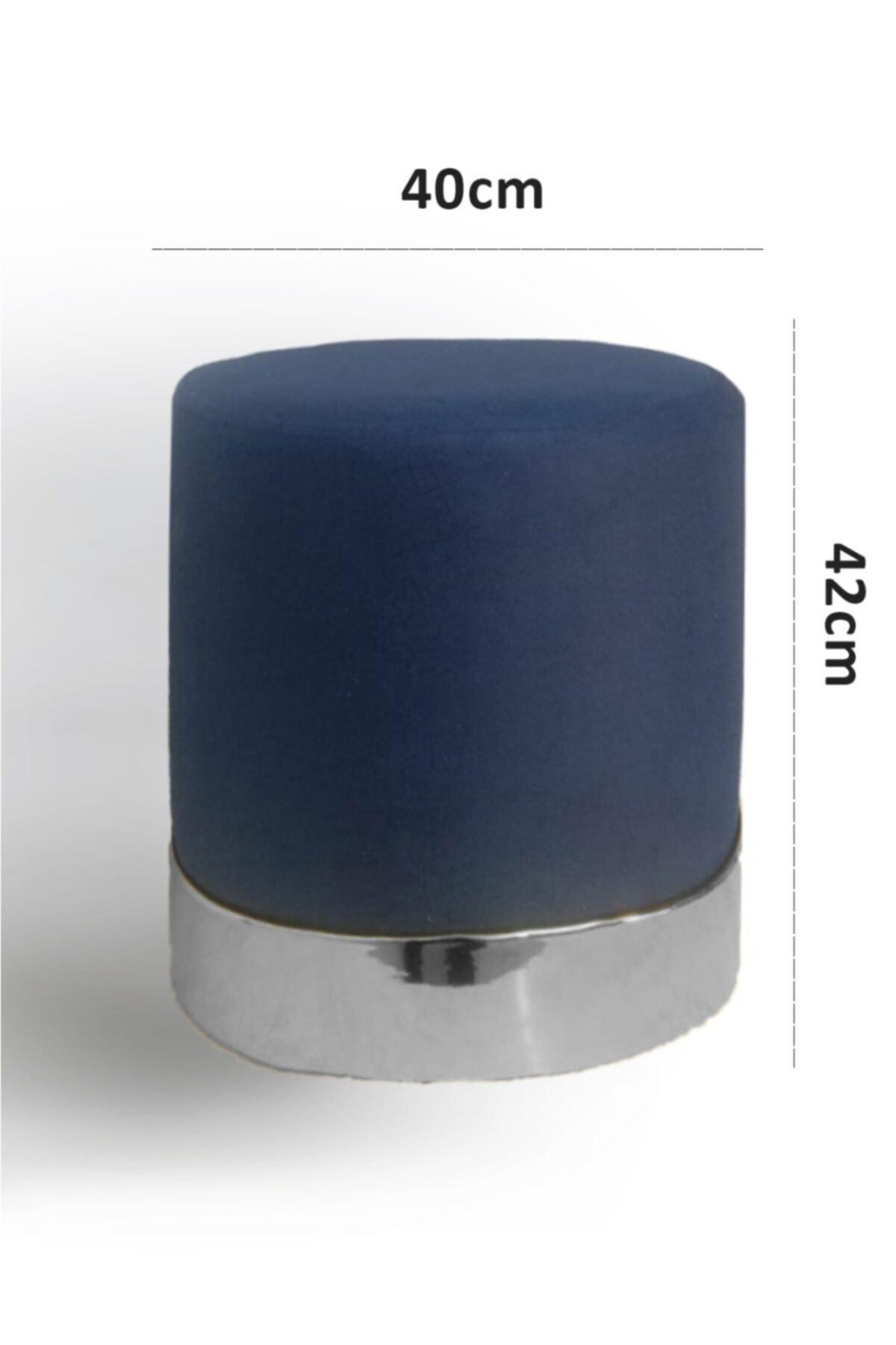 Zem Queen Blue - Silver Puf 2