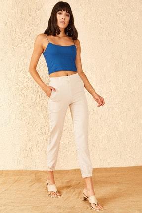 Bianco Lucci Kadın Bel Ve Paça Lastikli Pantolon