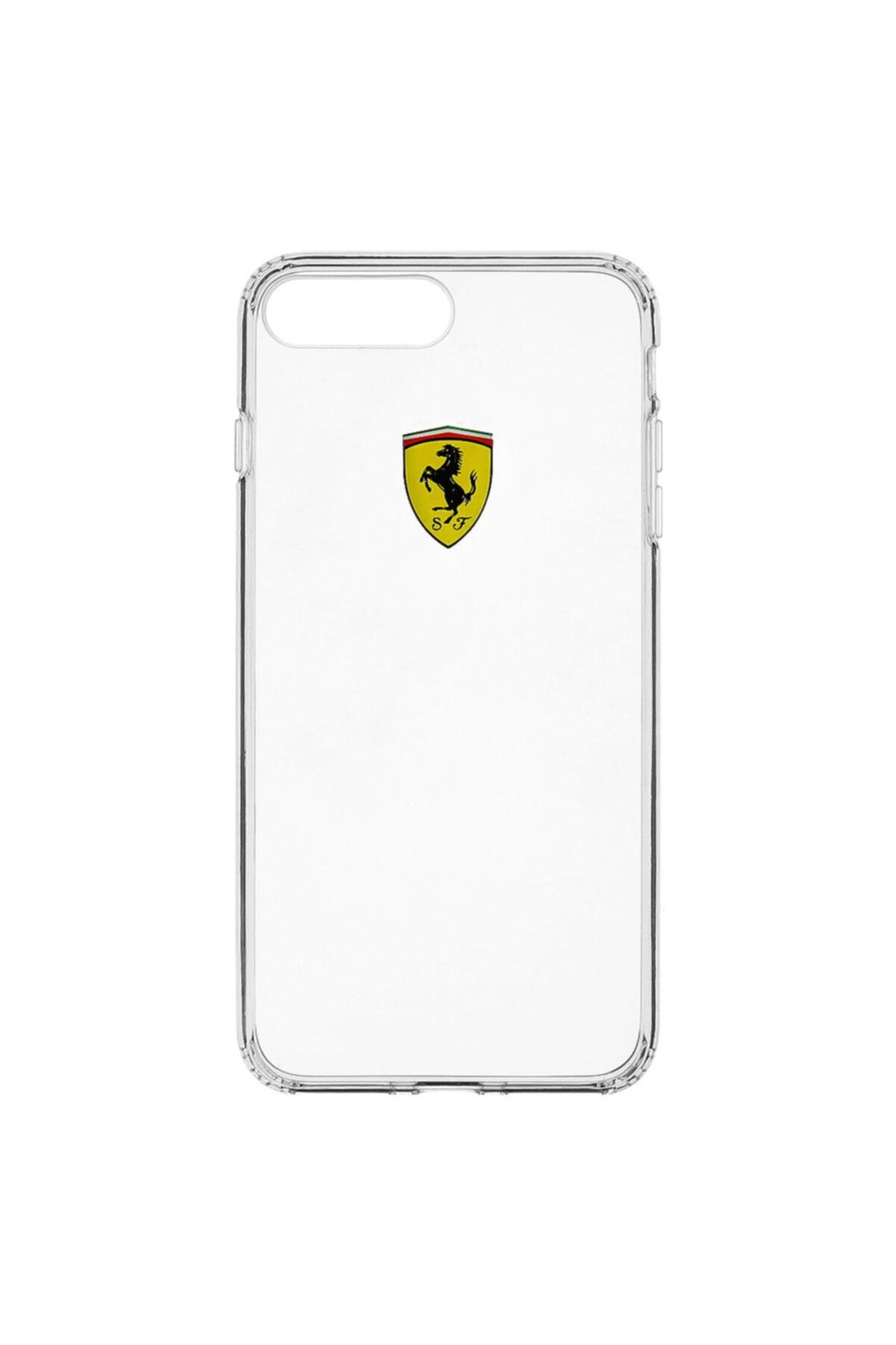 Ferrari Lisanslı Iphone 7 Plus / 8 Plus Şeffaf Silikon Kılıf 1