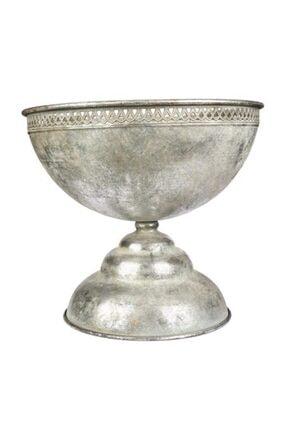 Vitale Margari Gümüş Metal Vazo Ak.gj0001