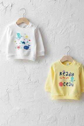 LC Waikiki Erkek Bebek Sarı Fpr Sweatshirt