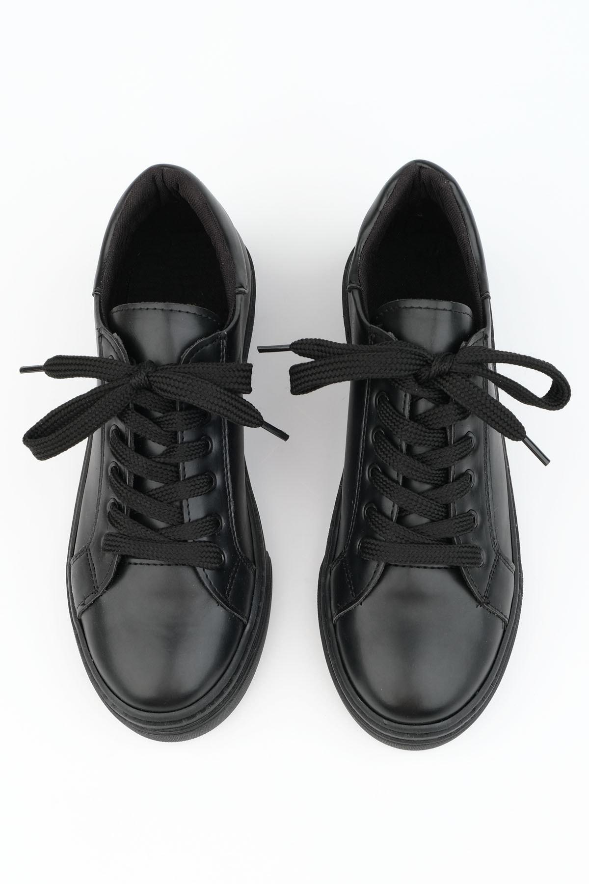 Marjin Kadın Siyah Sneaker Ayakkabı Balen 1