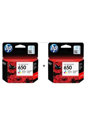 HP 650 Renkli 2 Li Set Kartuş