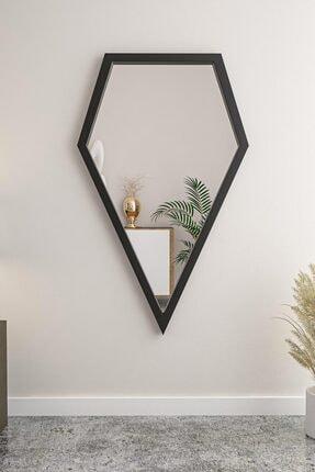bluecape Crystal Black Boy Antre Hol Koridor Duvar Salon Mutfak Banyo Wc Ofis Çocuk Yatak Odası Ayna 110 cm