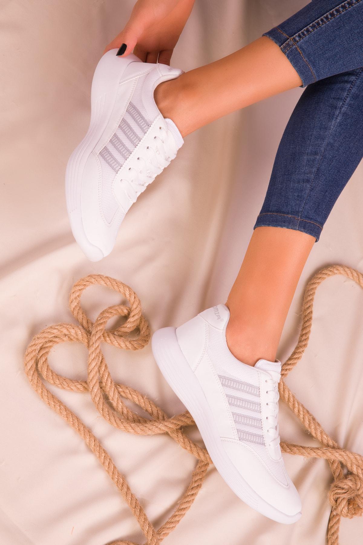 SOHO Beyaz Kadın Sneaker 14552 2