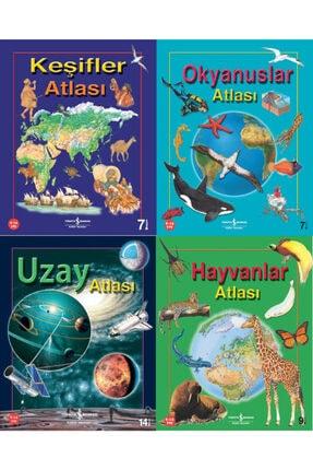 İş Bankası Kültür Yayınları Çocuklar Için Büyük Boy Renkli Atlas Eti 9-14 Yaş- Okyanuslar-hayvanlar-keşifler-uzay Atlası