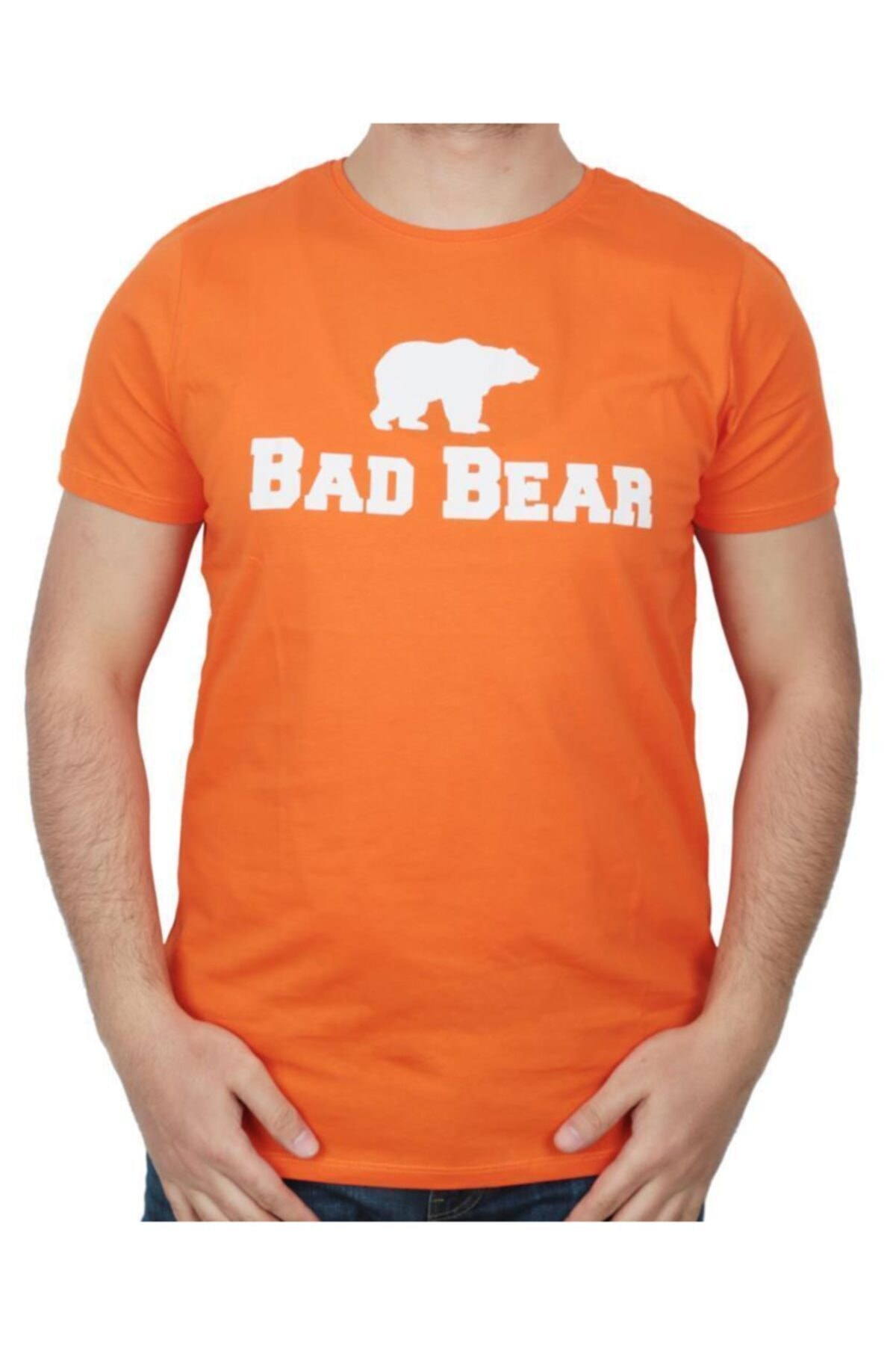 Bad Bear Erkek Turuncu Baskılı T-shirt 19.01.07.002 1