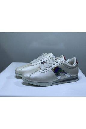 LETOON Kadın Beyaz Hologramlı Spor Ayakkabı