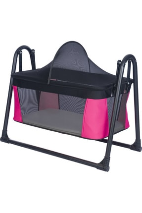 POLLY BABY Lüks Sallanır Portatif Kurulumlu Sepet Beşik Yatak Beşik