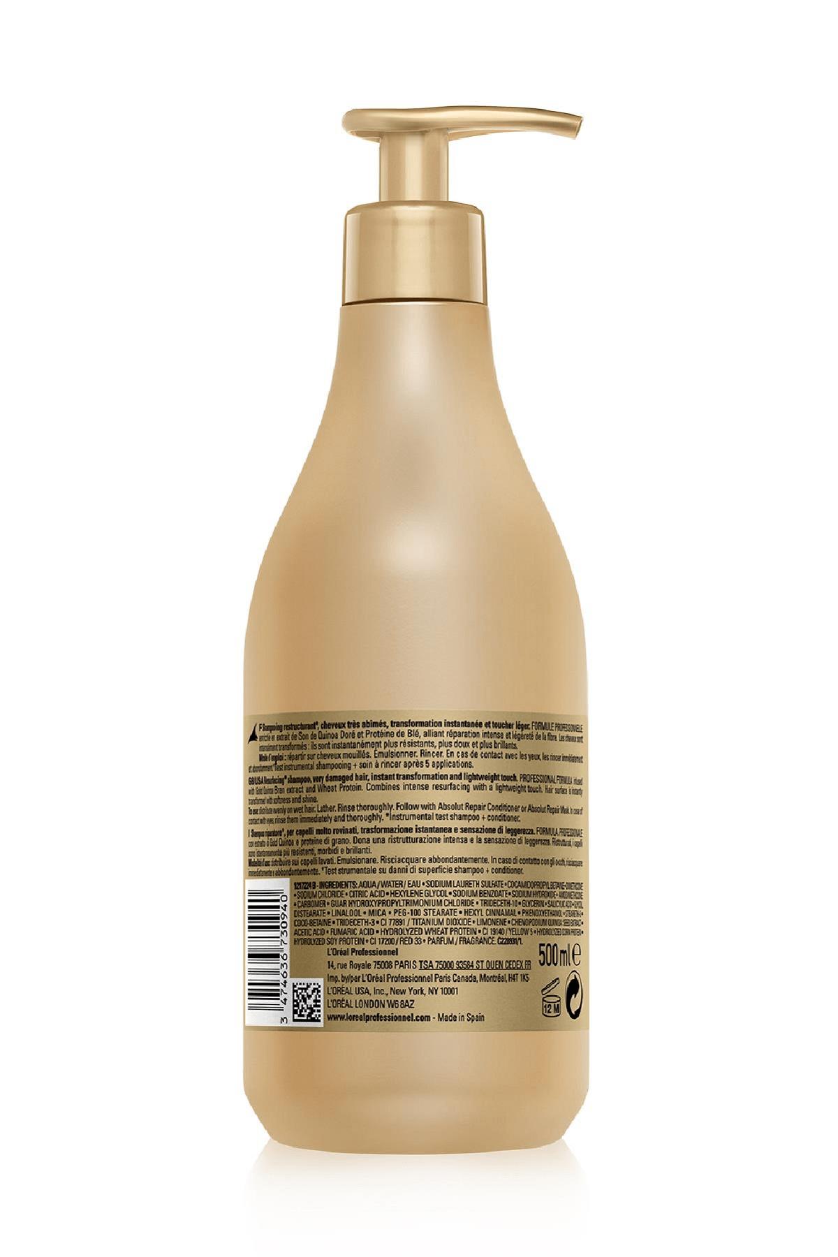L'oreal Professionnel Serie Expert Gold Quinoa Absolut Repair Şampuan 500ml 2