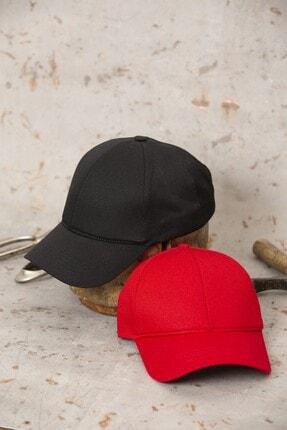 ÜN ŞAPKA Ikili Fırsat Ürünü - Siyah Ve Kırmızı Şapka