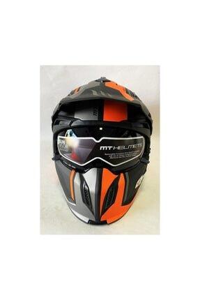MT Kask Streetfıgther Sv Twın C4 Mat Orange