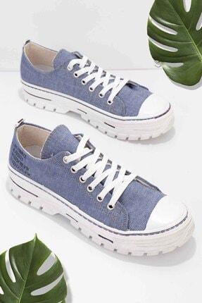 Bambi Mavi Keten Kadın Sneaker K01530110518