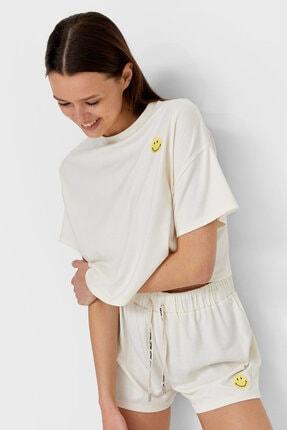 Stradivarius Kadın Smiley ® Pijama T-shirt