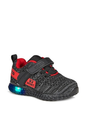 Vicco Alfa Unisex Çocuk Siyah Spor Ayakkabı