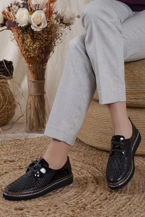 Odal Shoes Kadın Black Rose Oxford Spor Ayakkabı Blckrse013x