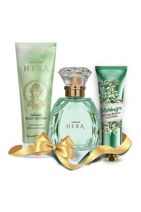 Farmasi Hera Edp 75 Ml Kadın Parfümü + Vücut Losyonu+morınga El Kremi Set