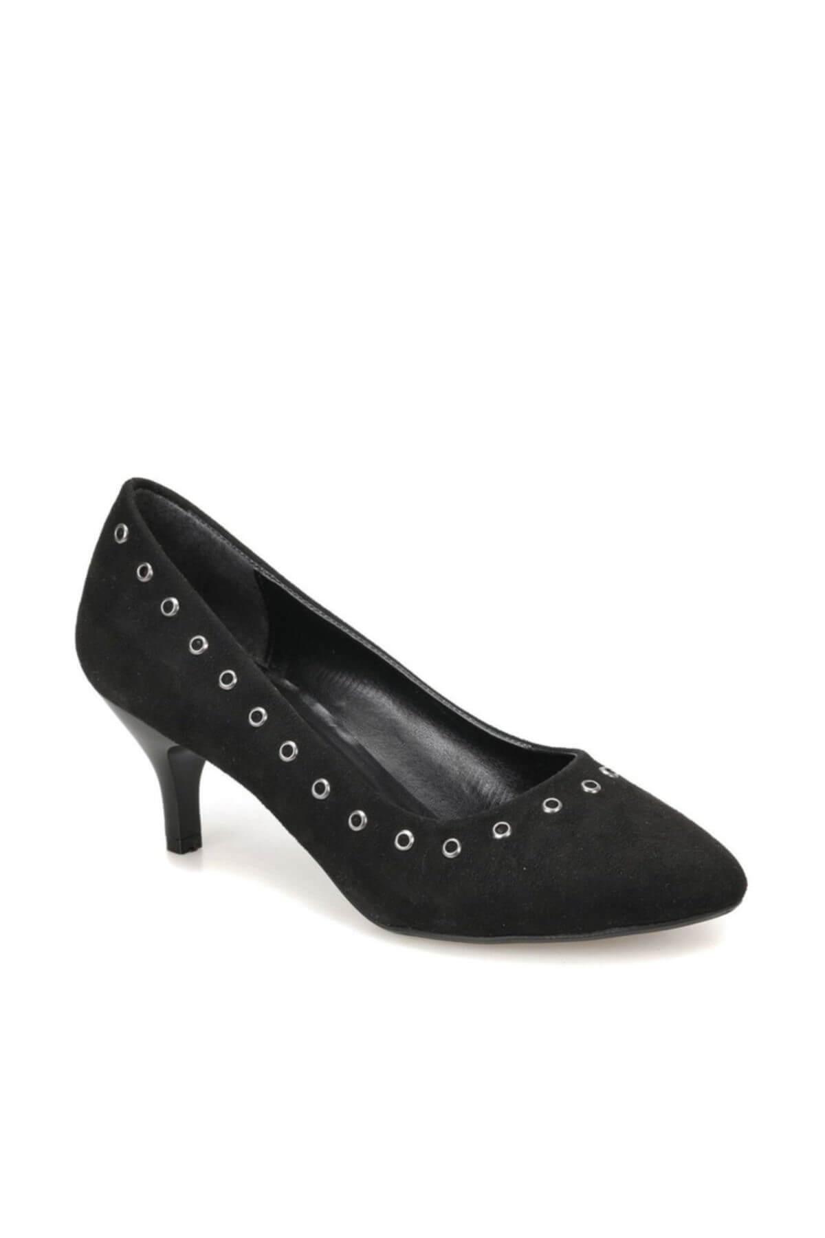 Miss F DW18038 Siyah Kadın Topuklu Ayakkabı 100340818 1