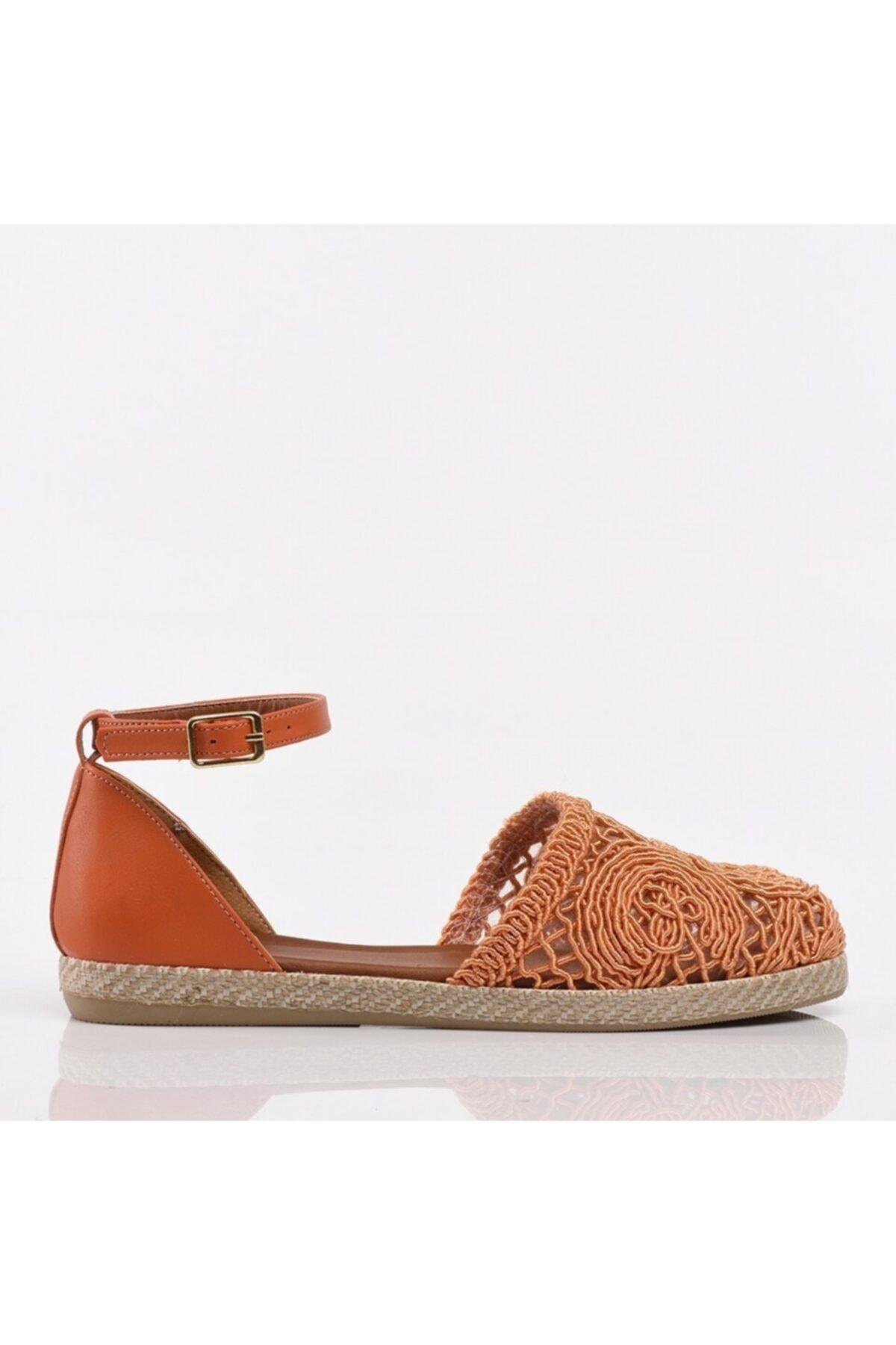 Hotiç Turuncu Yaya Kadın Günlük Ayakkabı 1