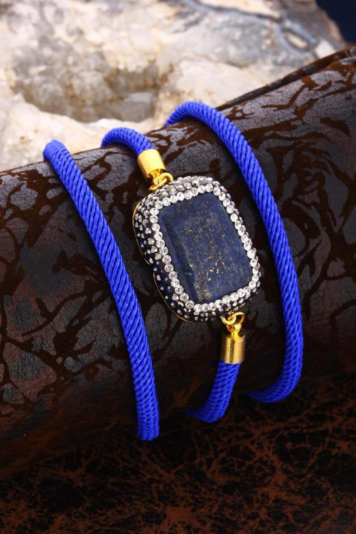 Dr. Stone Kadın Doğaltaş Lapis Lazuli Bileklik 20Ar291 1