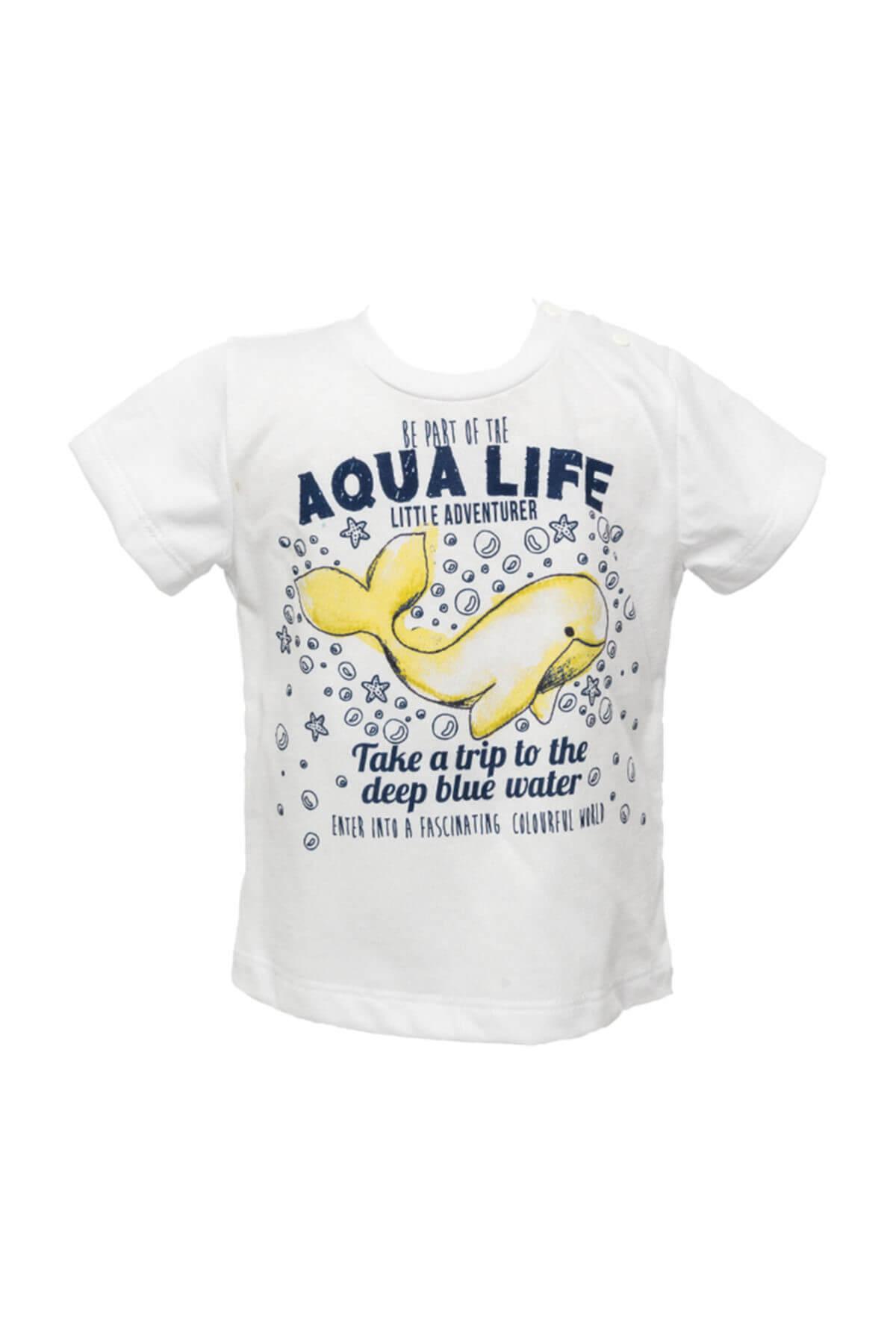 Zeyland Beyaz Erkek Çocuk T-Shirt 81M1BKJ53 1