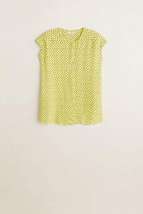 MANGO Woman Kadın Çim Rengi Puantiyeli Bluz 41015830
