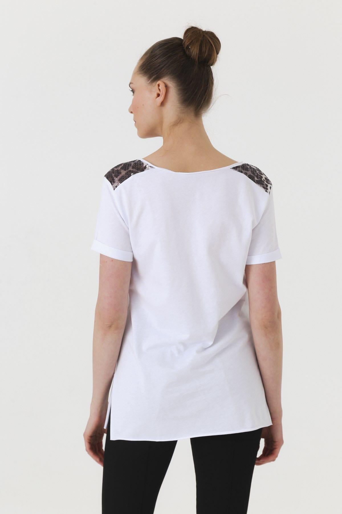 Jument Kadın Beyaz T-shirt 7090 2