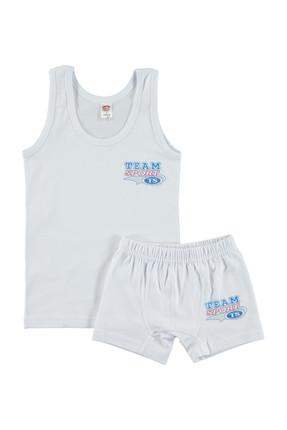 Şahin Beyaz Erkek Çocuk İç Çamaşır Takımı 117091018SS1-2