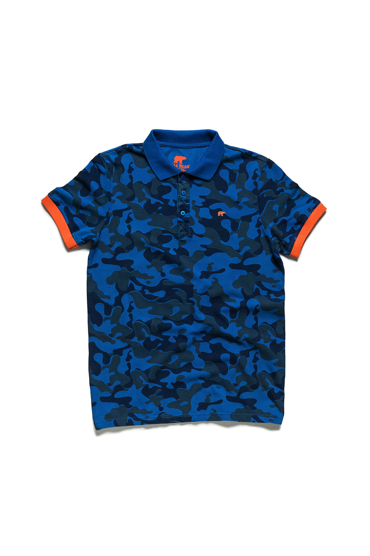Bad Bear CAMO PIQUE POLO NAVY 2