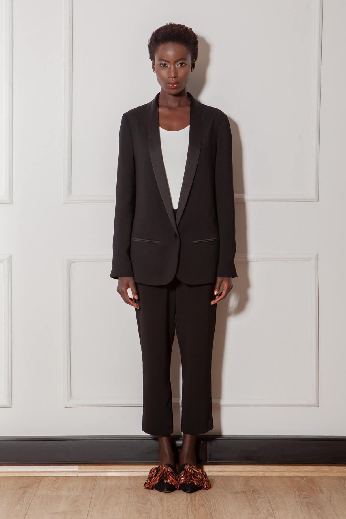RİVUS Kadın Siyah Pantolon 1379-1 1
