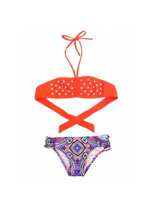 AYYILDIZ Kız Çocuk Turuncu Bikini Takımı