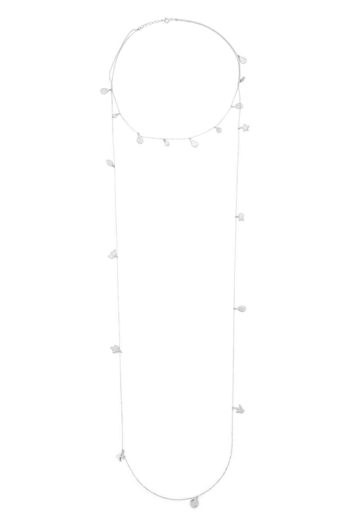 BENDİS Kadın Gümüş Pullu Kolye C455 1