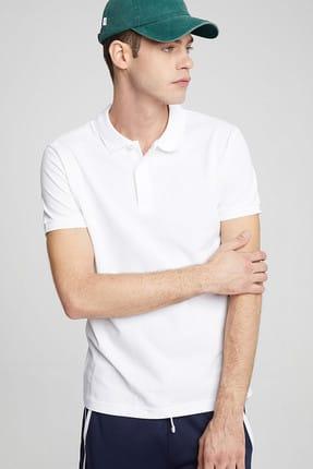 Ltb Erkek  Beyaz Polo Yaka T-Shirt 012198450860890000