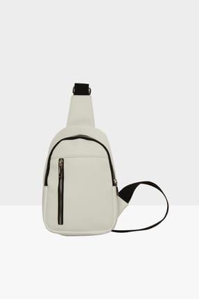 Bagmori Unisex Beyaz Çapraz Mini Çanta M000002808