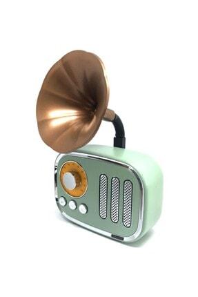 Meier Gramafon Retro Nostalji Radyo Hoparlör Bluetooth , Sd Kart Portatif