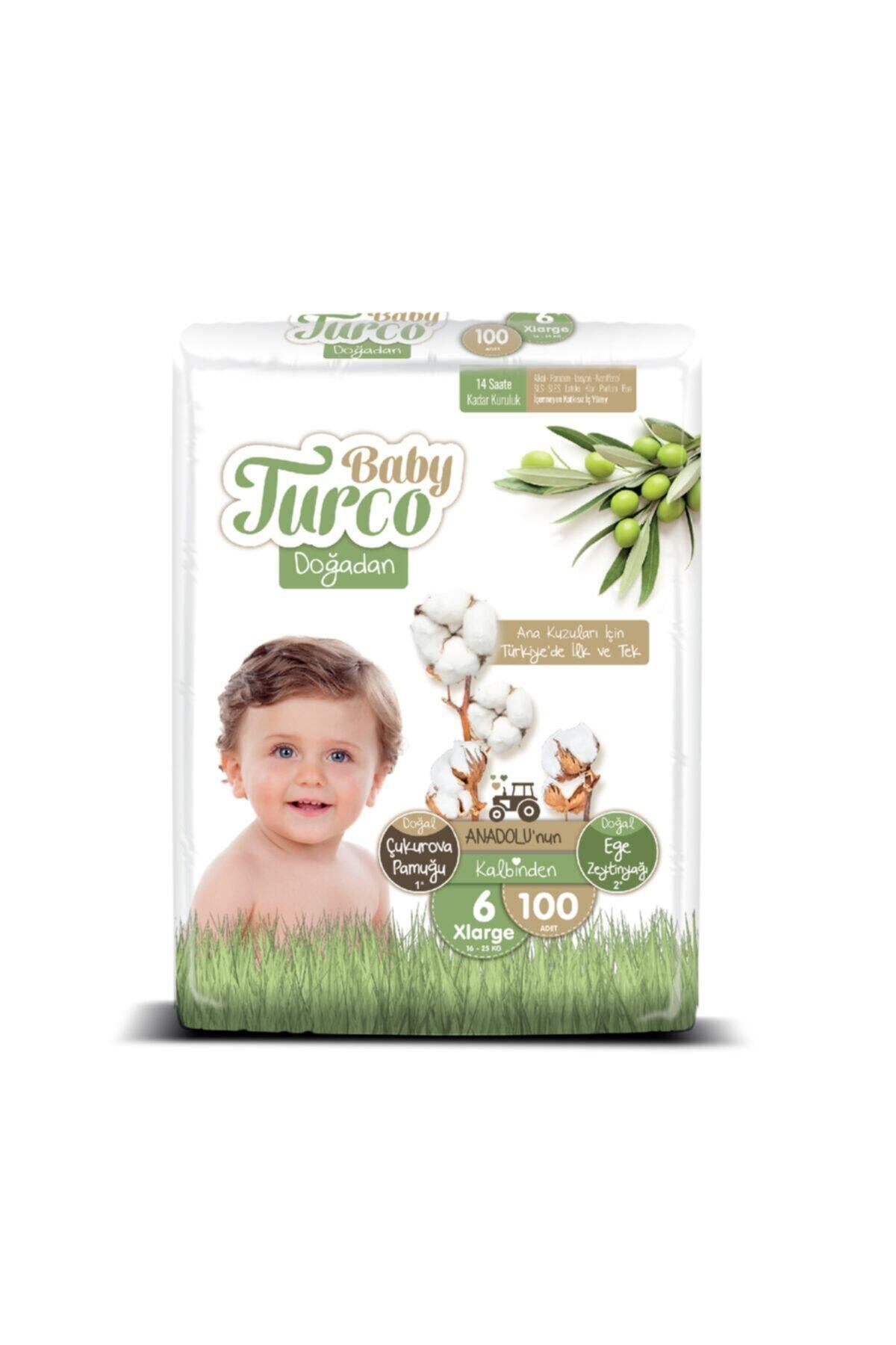 Baby Turco Doğadan 6 Numara Xlarge 100 Adet 2