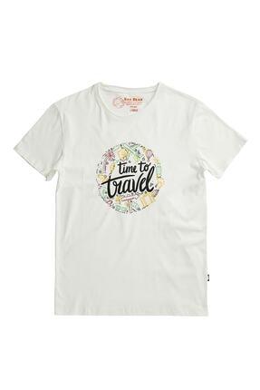 Bad Bear Tıme To Travel Tee Beyaz Kısa Kollu Tişört
