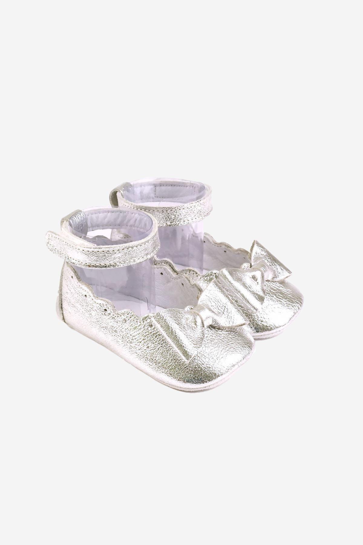 Funny Baby Naturel Deri Bilekten Cırtlı Bebek Ayakkabısı 1