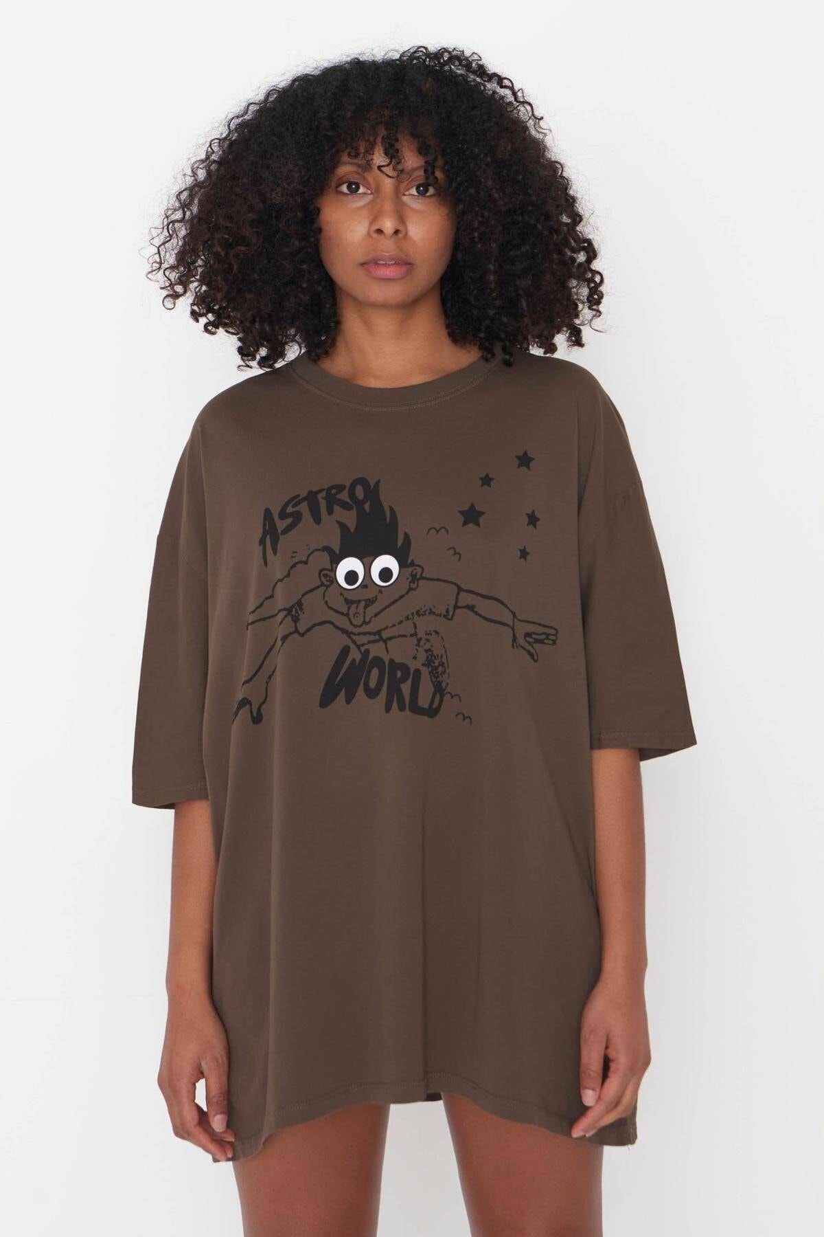 Addax Baskılı T-shirt P9527 - H7
