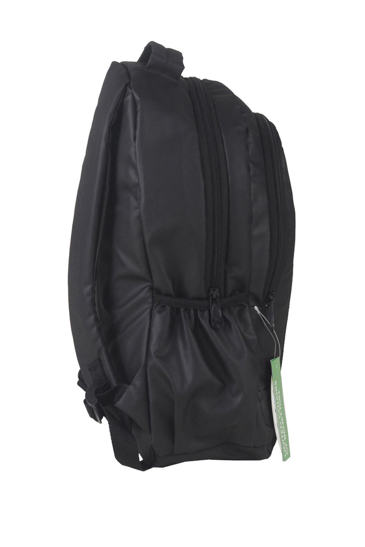 Benetton Unisex Siyah Okul Sırt Çantası 2