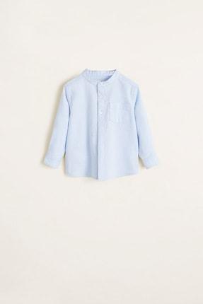 MANGO Baby Erkek Bebek Mavi Gömlek 43020778