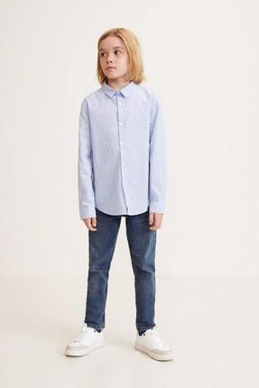 MANGO Kids Erkek Çocuk Mavi Gömlek 43020487