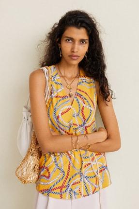 MANGO Woman Kadın Sarı Bluz 41079081